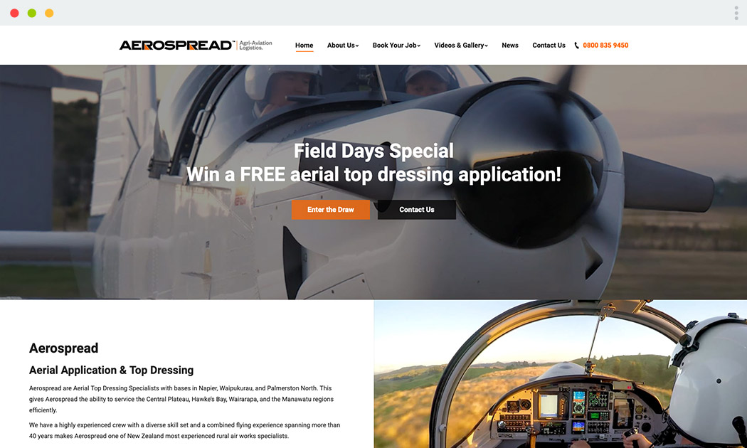 Aerospread Website
