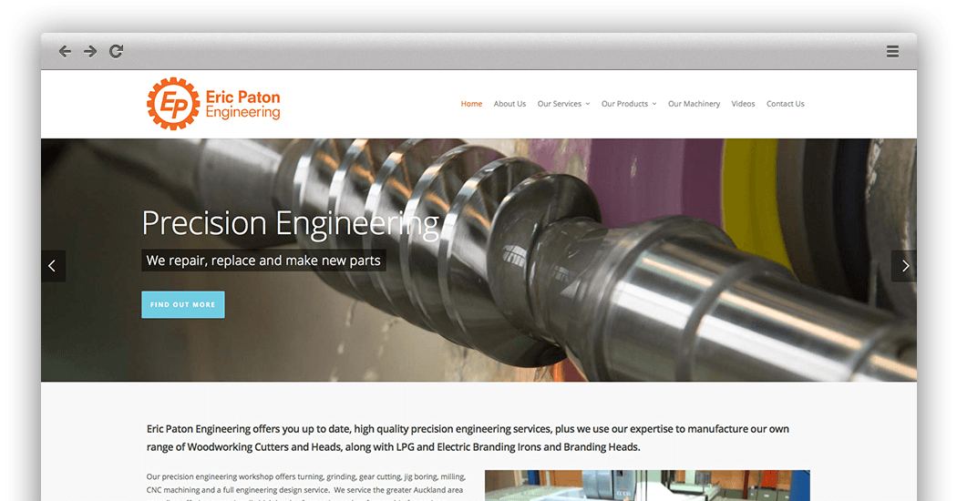 Eric Paton website by Quest