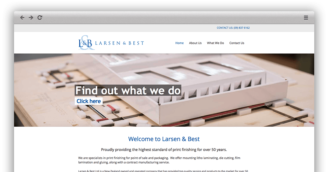 Larsen and Best website by Quest
